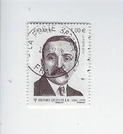 Personnalité Henri Queuille 4635 Oblitéré 2012 - Francia