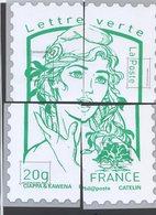 Bloc Souvenir De La Poste  En 4 Morceaux.........format 20x28 - Documenti Della Posta