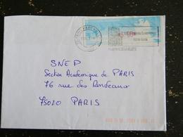 PARIS PARC VILLETTE 19e - FLAMME 3/5 AVENUE DU CONSERVATOIRE 75019 SUR VIGNETTE LISA - Marcophilie (Lettres)