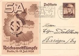 DEUTSCHES REICH - POSTKARTE 1938 SA REICHSWETTKÄMPFE /ak820 - Deutschland