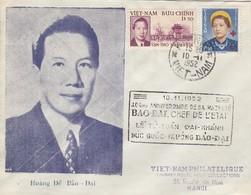 VIET-NAM. LETTRE. HANOI. 10 11 52. BAO-DAI CHEF DE L'ETAT - Vietnam
