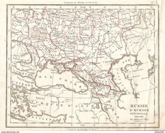 CARTE ANNÉE 1828 RUSSIE D'EUROPE MÉRIDIONALE - CARD YEAR 1828 RUSSIA OF SOUTHERN EUROPE - Cartes Géographiques