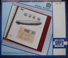 SAFE/I.D. - Intercalaires Noirs Avec Cadre (REF. 804) - Paquet De 10 - Fogli Bianchi