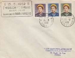 VIET-NAM. LETTRE. HANOI. 15 8 52. EMISSION DE TIMBRES SA MAJESTE NAM-PHUONG - Vietnam