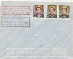 VIET-NAM. LETTRE. 15 8 1952. SECOURS AUX BLESSES MILITAIRES - Vietnam