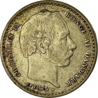 Monnaie, Danemark, Christian IX, 25 Öre, 1874, Copenhagen, TTB, Argent - Danemark