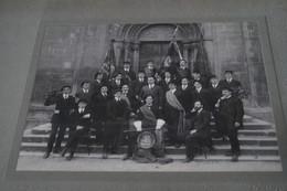 Ancienne Photo Carton,1913,Neuchatel,Suisse,milieu étudiants Suisse,photo Monbaron A. 41,5 Cm. Sur 35 Cm. - Old (before 1900)