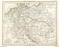 CARTE ANNÉE 1828 ALLEMAGNE - MAP YEAR 1828 GERMANY - KARTE JAHR 1828 DEUTSCHLAND - ALEMANIA - GERMANIA - Cartes Géographiques