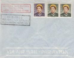 VIET-NAM. LETTRE. 15 8 1952. SECOURS AUX BLESSES MILITAIRES TIMBRES EFFIGIE SA MAJESTE NAM-PHUONG - Vietnam