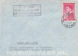 VIET-NAM. LETTRE. 7 7 1956. FDC SECOND ANNIVERSARY OF PRESIDENT NGO-DINH-DIEM'S ACCESS TO POWER - Vietnam