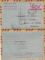 VIET-NAM. AEROGRAMME. 9 6 1954. SAIGON POUR BOURG DE PEAGE DROME - Vietnam
