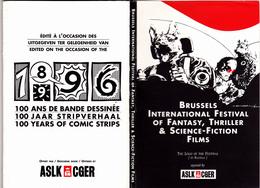 100 Ans Bande Dessinée Bruxelles Festival Film Fantastique - Dépliant De 14 CPM TBE 1996 Neuves Herge Schuiten Tardi - Autres Illustrateurs
