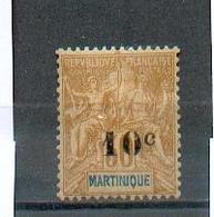 MART 560 - YT 52  * - Charnière Complète - Martinique (1886-1947)