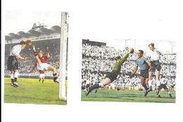 BK60 - BLUE BAND CARDS - URUGUAY VS ENGLAND - ENGLAND VS SWITZERLAND - WORLD CUP 1954 - Trading Cards