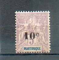 MART 561 - YT 53  * - Charnière Complète - Martinique (1886-1947)