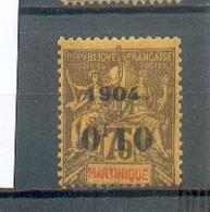 MART 563 - YT 57  * - Charnière Complète - Martinique (1886-1947)