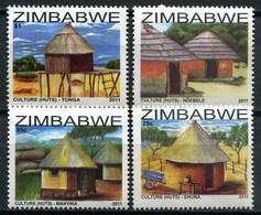 Simbabwe Zimbabwe Mi# 973-6 Postfrisch/MNH - Traditional Buildings - Zimbabwe (1980-...)