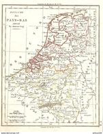 CARTE ANNÉE 1828 ROYAUME Des PAYS BAS - MAP YEAR 1828 KINGDOM OF THE NETHERLANDS - KARTE JAHR 1828 KÖNIGREICH DER NIEDER - Cartes Géographiques
