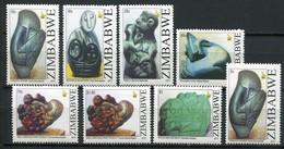 Simbabwe Zimbabwe Mi# 977-84 Postfrisch/MNH - Stone Art Sculptures - Zimbabwe (1980-...)