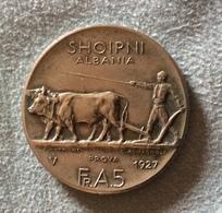 ALBANIA - Fr.A.5 DEL 1927  - RICONIO - Antique