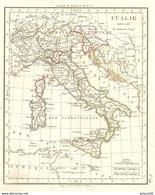 CARTE ANNÉE 1828 ITALIE - MAP YEAR 1828 ITALY - KARTE JAHR 1828 ITALIEN - MAPA AÑO 1828 ITALIA - MAPPA - Cartes Géographiques