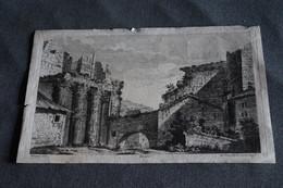 Splendide Ancienne Gravure 1780,gravure Ioh Georg Hertel ,Del Piranesi,31,5 Cm. Sur 20,5 Cm.original,RARE - Gravados