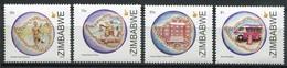 Simbabwe Zimbabwe Mi# 1023-6 Postfrisch/MNH - Postal Service - Zimbabwe (1980-...)