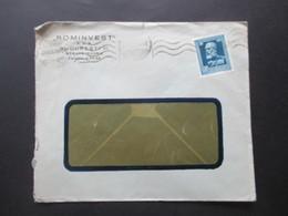 Rumänien August 1939 Michel Nr. 580 König Karl I. EF Firmenbrief Rominvest S.A.R. Bucuresti VI. - Covers & Documents