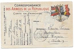 WWI LAURE 15 SECTION COA CASERNE BUSSERADE MARSEILLE POUR ST NAZAIRE - CPA MILITAIRE - Guerre 1914-18