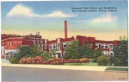 Roosevelt High School And Auditorium - East Chicago Indiana Harbor, Indiana - & School - Etats-Unis