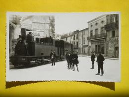 Sigean ,passage Du Tramway,photo Dentelée Format Cpa - Sigean