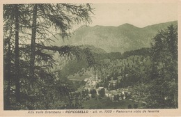 RONCOBELLO - ALTA VAL BREMBANA - PANORAMA DA LEVANTE - (BERGAMO) - VIAGGIATA 1934 - Bergamo