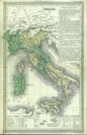 ACG 37 - ITALIA - ANTICA CARTA GEOGRAFICA - 1838 - Dimensioni: Cm. 42 X 26 - Geographical Maps