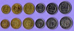 Uzbekistan 1994. Set Of 6 Coins: 1, 3, 5. 10, 20, 50 Tiyin 1994 UNC - Uzbekistan
