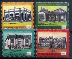 Simbabwe Zimbabwe Mi# 1057-60  Postfrisch/MNH - Bank Buildings - Zimbabwe (1980-...)