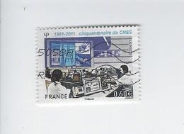 Cinquantenaire Du Centre National D'Etudes Spatiales 4604 Oblitéré 2011 - Francia