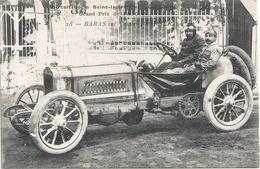 AUTOMOBILE - BARAS Sur Voiture BRASTER - Circuit De La Seine Inférieure - Grand Prix De L'A.C.F. 1907 - Postcards
