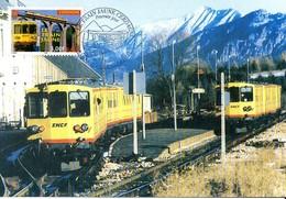 France 3338 Fdc Train Jaune Cerdagne, Pont, SNCF, Pic Du Canigou Pyrénées - Treni