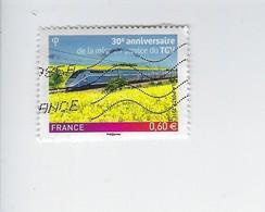 30ème Anniversaire De La Mise En Service Du Train à Grande Vitesse 4592 Oblitéré 2011 - Francia