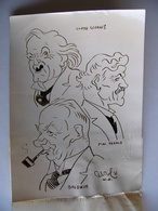 Photo De Presse Caricature De Raoul CABROL élections Angleterre England Baldwin Mac Donald Lloyd Georges Années 30 ? - Célébrités