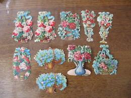 SERIE DE 10 DECOUPIS FLEURS - Flowers