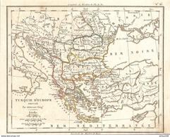 CARTE ANNÉE 1828 TURQUIE D'EUROPE - MAP YEAR 1828 TURKEY OF EUROPE - EUROPA TÜRKEI - EUROPA TURQUÍA - TURCHIA EUROPEA - Cartes Géographiques