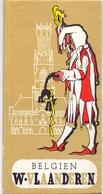 Brochure Dépliant Faltblatt Folder - Toerisme Tourisme - Belgien West Vlaanderen + Map - Dépliants Touristiques