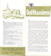 Brochure Dépliant Faltblatt Folder - Toerisme Tourisme - Oost Vlaanderen - Illustr Herman Verbaere - Dépliants Touristiques