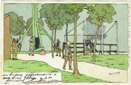 """Illustrateur : A.Lynen. Tir à L'Arc. Collection """"De Ci, De Là, à Bruxelles Et En Brabant"""". - Lynen, Amédée-Ernest"""