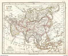 CARTE ANNÉE1828 ASIE - CARD YEAR1828 ASIA - KARTE JAHR 1828 ASIEN - TARJETA AÑO 1828 ASIA - ANNO DI CARTA 1828 ASIA - Cartes Géographiques