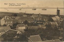DOEL :   Noord-kant : Vue De La Station Et L'école Communale  (  Windmolen ) - Beveren-Waas
