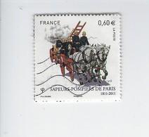 Bicentenaire De La Brigade Des Sapeurs-pompiers 4582 Oblitéré 2011 - Francia