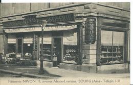 BOURG   ( AIN )     PÂTISSERIE NIVON ...15 AVENUE ALSACE-LORRAINE - Bourg-en-Bresse