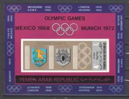 Yemen YAR 1968 Mi Block 84 MNH SUMMER OLYMPICS MEXICO & MUNCHEN - Ete 1968: Mexico
